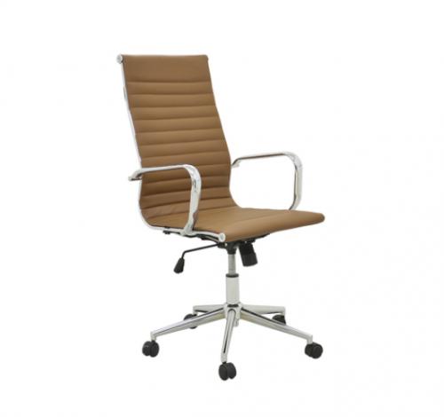 Cadeira Office Sevilha Alta Revestimento em PU e Base com regulagem de altura Dimensões: Altura 1,05m a 1,15m Profundidade: 0,70m Largura: 0,67m
