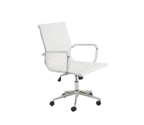 Cadeira Office Sevilha Baixa Revestimento em PU e Base com regulagem de altura Dimensões: Altura: 0,89m a 0,98m Profundidade: 0,59,5m Largura: 0,55m